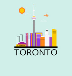 Toronto travel background vector