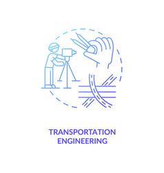 Transportation engineering dark blue gradient vector
