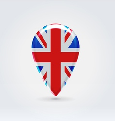 UK icon point for map vector image