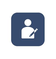 User icon - edit modify icon vector