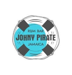 Vintage handcrafted rum bar label emblem vector