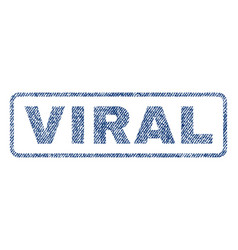 Viral textile stamp vector