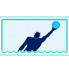 Waterpolo Goalkeeper vector