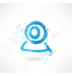 web camera grunge icon vector image