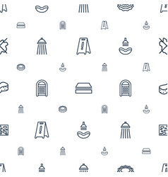 Wet icons pattern seamless white background vector