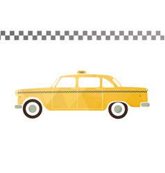 Yellow taxi car vector