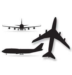 Airplane silhouettes isolated on white background vector