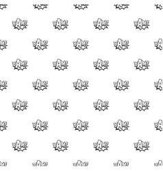 Bam comic book bubble pattern vector