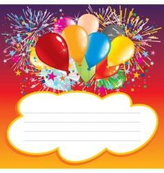 birthday balloons vector image vector image