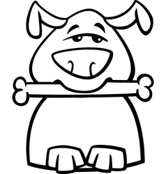 busy dog cartoon coloring page vector image vector image