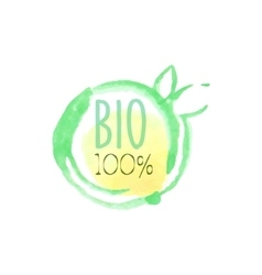 Percent Bio Fresh Products Promo Sign vector image