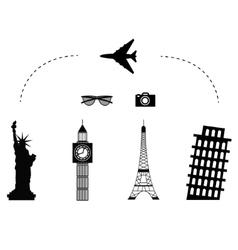 trawel airplane icon vector image vector image