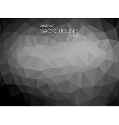 Black and white triangle shapes backgound vector image