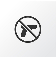 forbidden icon symbol premium quality isolated no vector image vector image
