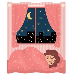 pretty girl sleeps vector image