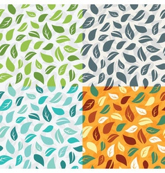 Seamless pattern with leafs vector image vector image