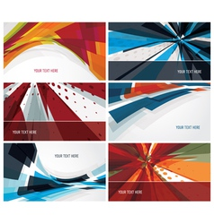 set of modern colorful business cards vector image