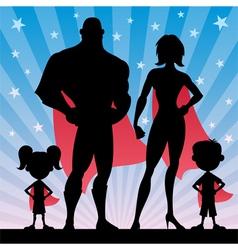 Superhero Family vector image vector image