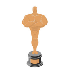 bronze statue award for third place statue vector image