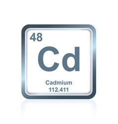 chemical element cadmium from the periodic table vector image vector image