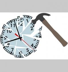 clock pieces vector image vector image