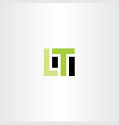 lt letter l t logo icon vector image vector image