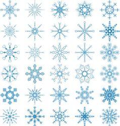 Snowflake Set vector image vector image
