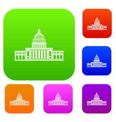 white house set color collection vector image vector image