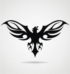 Black Eagle Tribal vector image