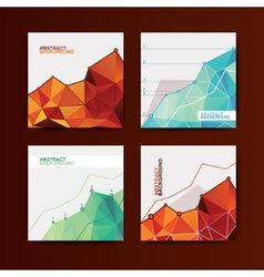 Business chart graphs vector image vector image