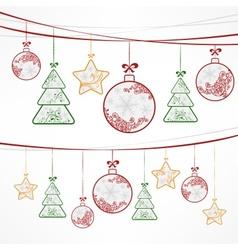 Christmas ornament decoration vector image