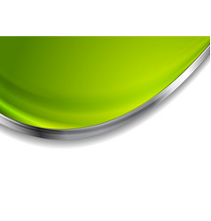 green blurred abstract background with silver wave vector image