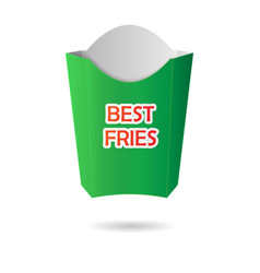 green french fries package vector image