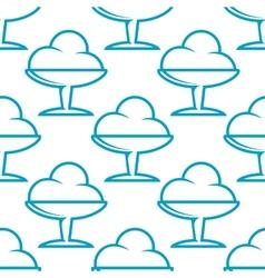 Ice cream sundae seamless pattern vector image vector image