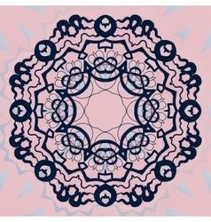 Ornate mandala flower Stylized ornament on pink vector image vector image