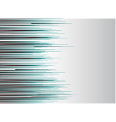 abstract technology lines horizontal red and blue vector image