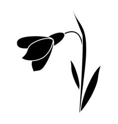 Amaryllis flower decorative icon pictogram vector
