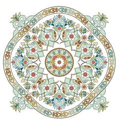 Artistic ottoman pattern series three vector