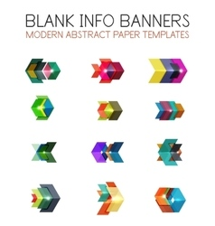 Banners business backgrounds and presentations vector image