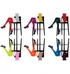Bar chairs vector