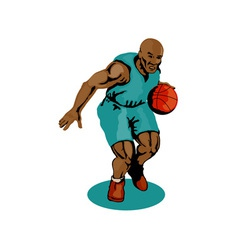 Basketball Player Dribbling vector