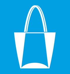Big bag icon white vector