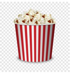 Big popcorn pack mockup realistic style vector