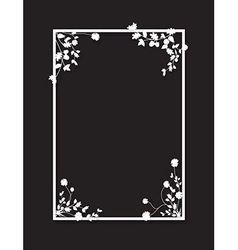Black floral box vector