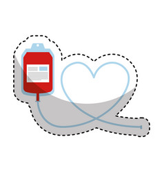 blood donation bag icon vector image
