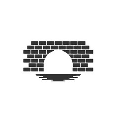 bridge brick graphic design template vector image