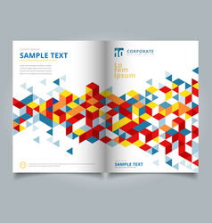 Brochure template abstract geometric with vector