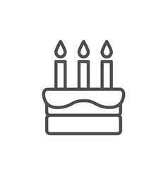 cake birthday cake icon vector image