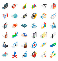 Camera icons set isometric style vector
