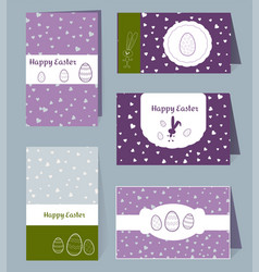 card happy easter templates with eggs vector image